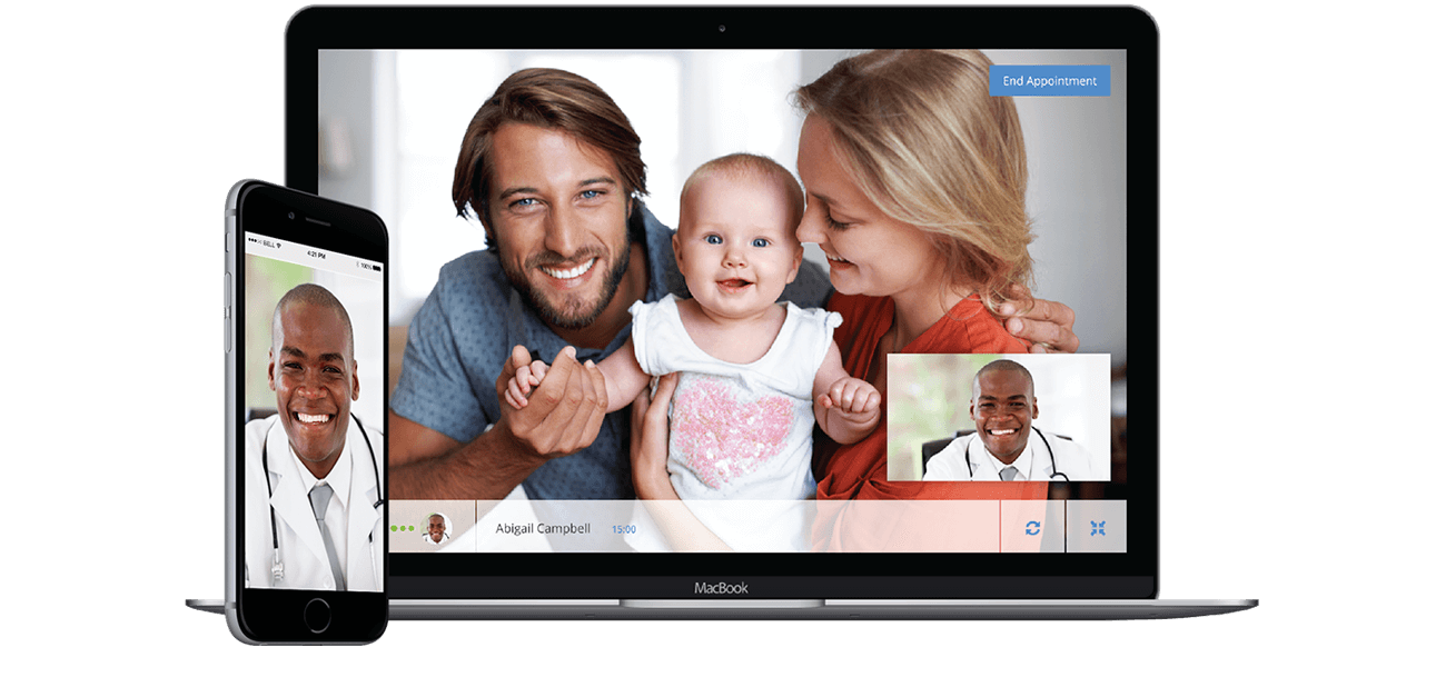 Telemedicine - Family with Doctor